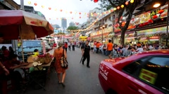 Street restaurant Jalan Alor Stock Footage