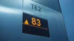 Scoreboard in the elevator of Petronas Stock Footage