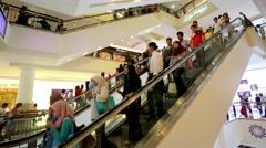 People at Suria KLCC Stock Footage