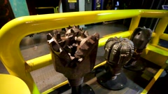 Oil drills presented at Petrosains. Stock Footage