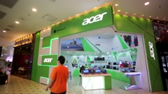 Acer store at Low Yat Plaza. - stock footage