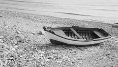 Fisherman's boat at the seaside Stock Photos