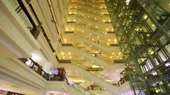 Escalators in Berjaya Time Square Stock Footage