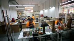 Master Craftsmen at Work Stock Footage