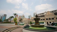 Fountain at Merdeka Square. Stock Footage