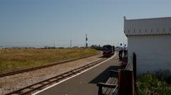 Romney, Hythe & Dymchurch Railway, Dungeness, Kent, England Stock Footage