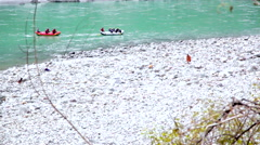 Rafting in Ganges, Rishikesh Stock Footage