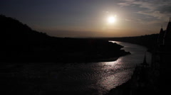 Ganges River By Night Stock Footage