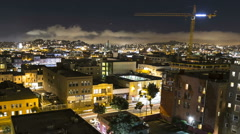 San Francisco South of Market Time Lapse with Zoom Stock Footage