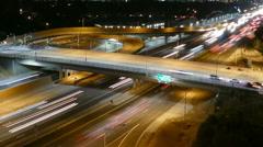 Sunset Blvd Freeway Ramp Zooming Time Lapse Stock Footage