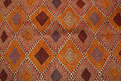 tunisian carpet - margoum - stock photo