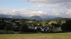 Hawkshead village Lake District National Park England uk Stock Footage