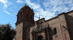 Convento de Santo Domingo, Qorikancha - Cuzco, Peru Stock Footage