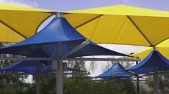 Bright Sunshades Panning Shot Stock Footage