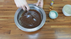 A video of making ganache for chocolate cake Stock Footage