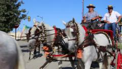 Horsemen and carriages Stock Footage