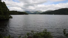 Windermere Lake District National Park England uk from boathouse Stock Footage