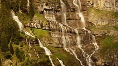 Waterfalls mountain - source water - clean fresh water - nature Stock Footage