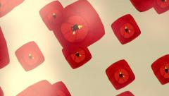Candle lanterns ceremony - love background - balloons Stock Footage