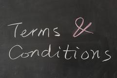 Stock Photo of terms and conditions