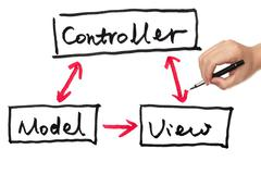 Stock Illustration of model, view and controller
