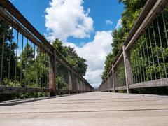 Stock Photo of wood bridge