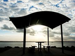 Stock Photo of pavilion near the beach