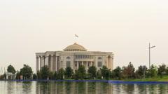 Palais des Nations (Kohi Millat). Time Lapse. Dushanbe, Tajikistan Stock Footage