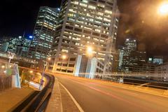 sydney night scene - stock photo