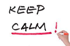 Keep calm words Stock Illustration