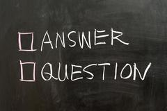 Answer or question Stock Photos