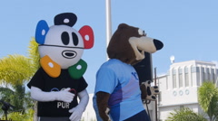 5k Banco Popular marathon  mascots Stock Footage