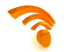 3d wifi icon - stock illustration