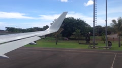 Taxiing at Easter Island aiport, Rapa Nui Stock Footage