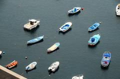 aereial view of boats - stock photo