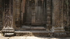 Angkor wat, entrance to the tower - stock footage