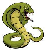 Stock Illustration of cobra snake about to strike