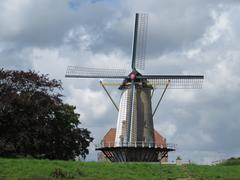 DÓrange Windmill in Willemstad build in 1734 (Netherlands) Stock Photos