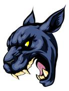 panther mascot character - stock illustration