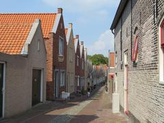 """Small street on the harbour in the city  """"Zierikzee"""" in Holland Kuvituskuvat"""