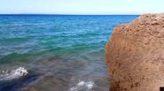 Waves sound on Banana Beach Zakynthos Greece Stock Footage