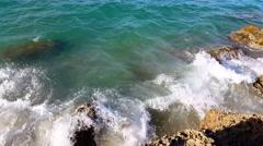 Waves splashing rocks - Beautiful beach Stock Footage
