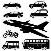 transportation icons - stock illustration