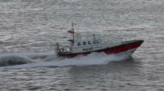 Liverpool pilot boat on river mersey, england Stock Footage