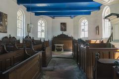 interior church in den ham - stock photo