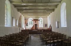 Interior church oostrum Stock Photos