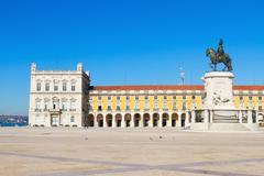 Commerce square  in Lisbon, Portugal Stock Photos