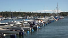 Yachts And Boats in nynashamn in sweden Stock Footage