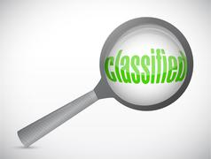 Classified magnify illustration design Stock Illustration