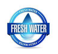 Stock Illustration of fresh water seal illustration design